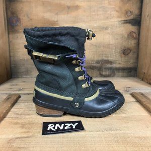 Sorel Conquest Carly Black Waterproof Boots